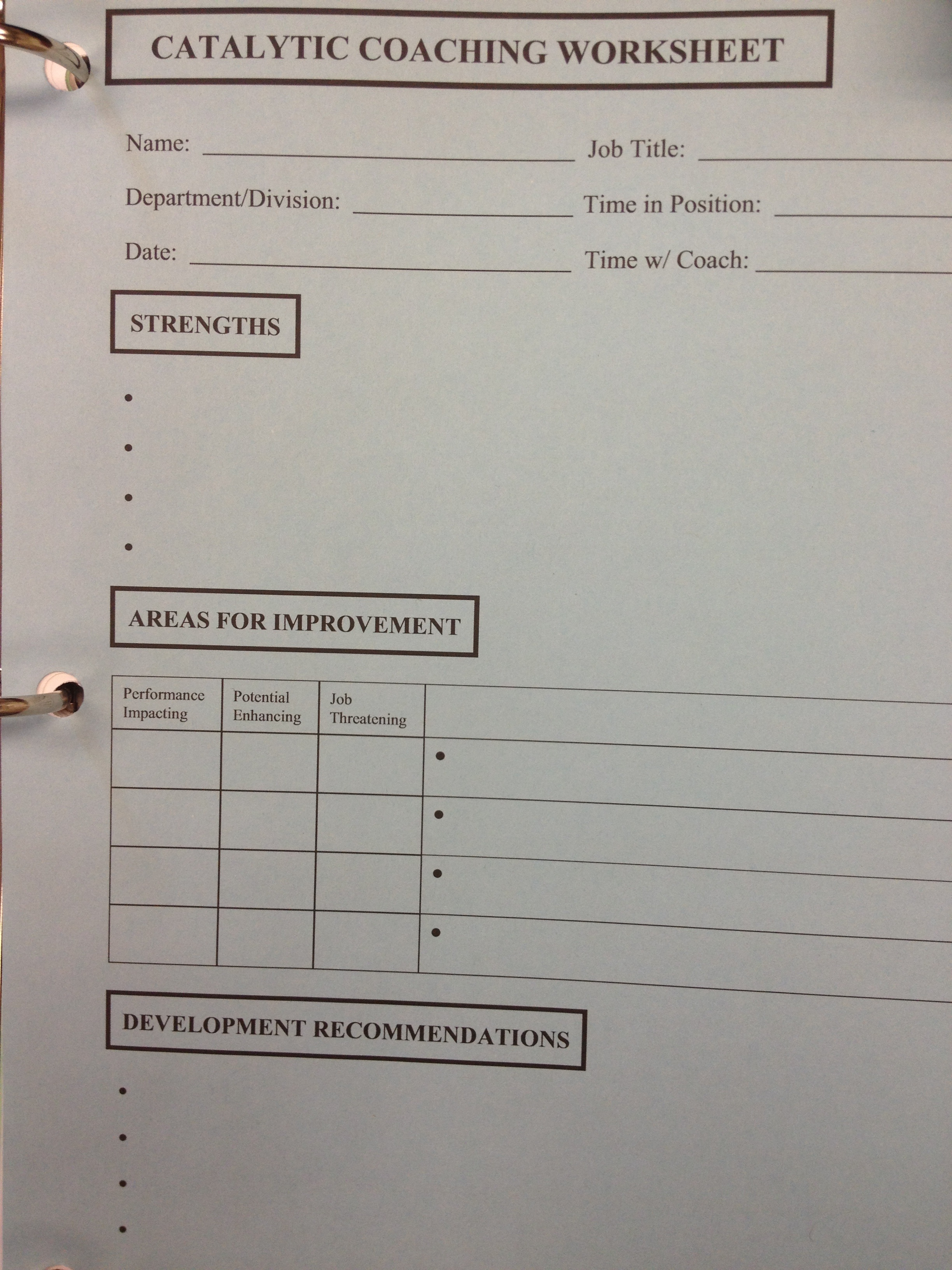 Coaching Worksheet2
