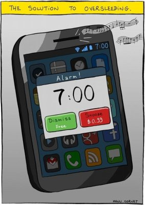 An app to charge you whenever you hit the snooze button