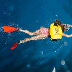 nageur île porquerolle hyères tourisme