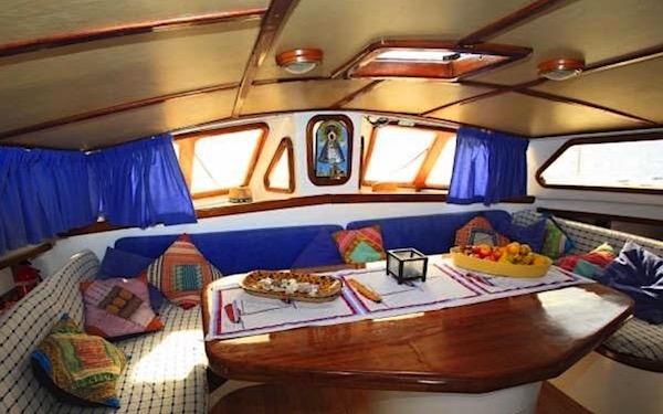 Detalle del interior del barco
