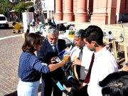 Entregas Educacion, Lucia Corpacci, Ministro Daniel Gutierrez