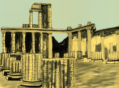 Weekly Sketch – Forum Pompeii – 02/12/2012