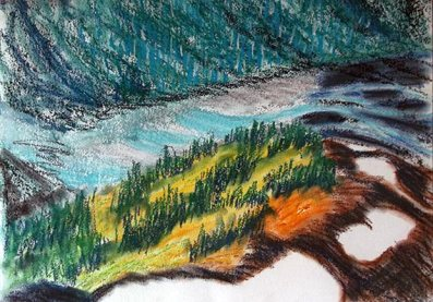 Chalk pastel sketch
