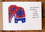 Decorative Elephant 2; pencil & felt-tip pen © Catherine Cronin
