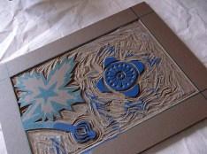 Anenome linocut in progress © Catherine Cronin