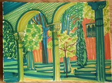 Alhambra Garden, marker pen © Catherine Cronin