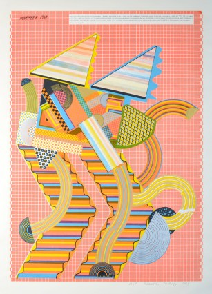 Parrot from the portfolio As is When, screenprint, 1965, Eduardo Paolozzi