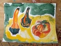 Squash, watercolour & marker pen © Catherine Cronin