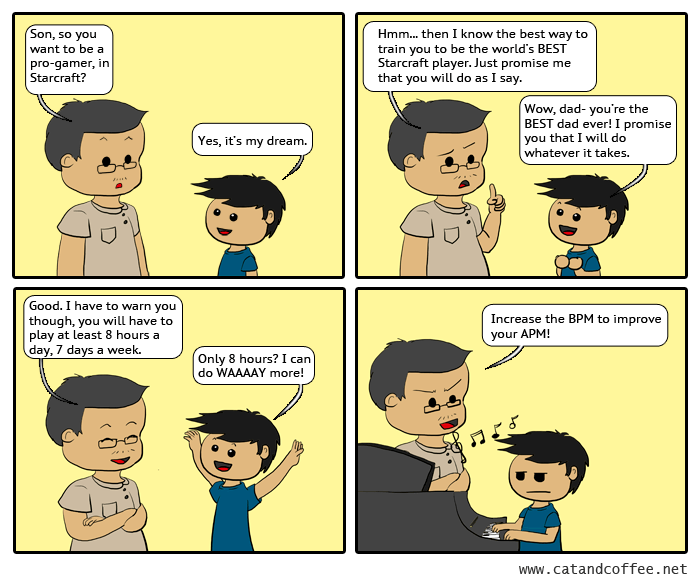 If an Asian father were to train his child to become a pro-gamer…