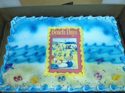 Beach Days Launch cake