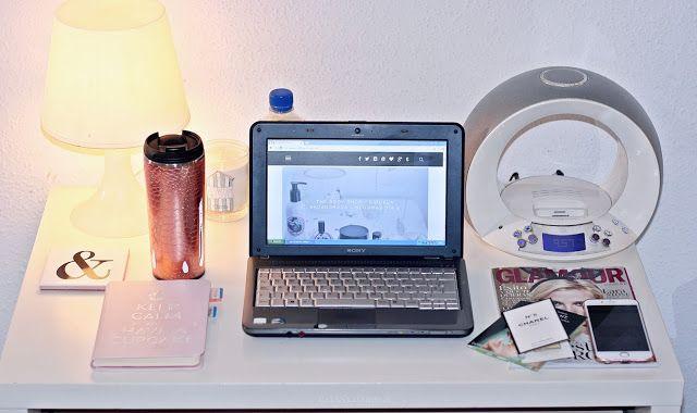 mesa de trabajo blogger - inspiración escritorios