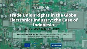 Webinar: Trade Union Rights in the Global Electronics Industry: the Case of Indonesia @ ONLINE