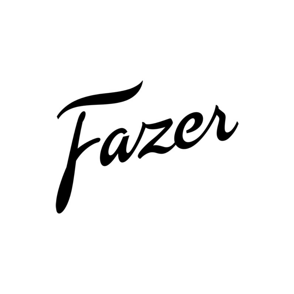 Fazer logo black and white transparent png