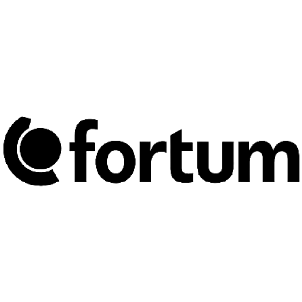Fortum logo black and white transparent png