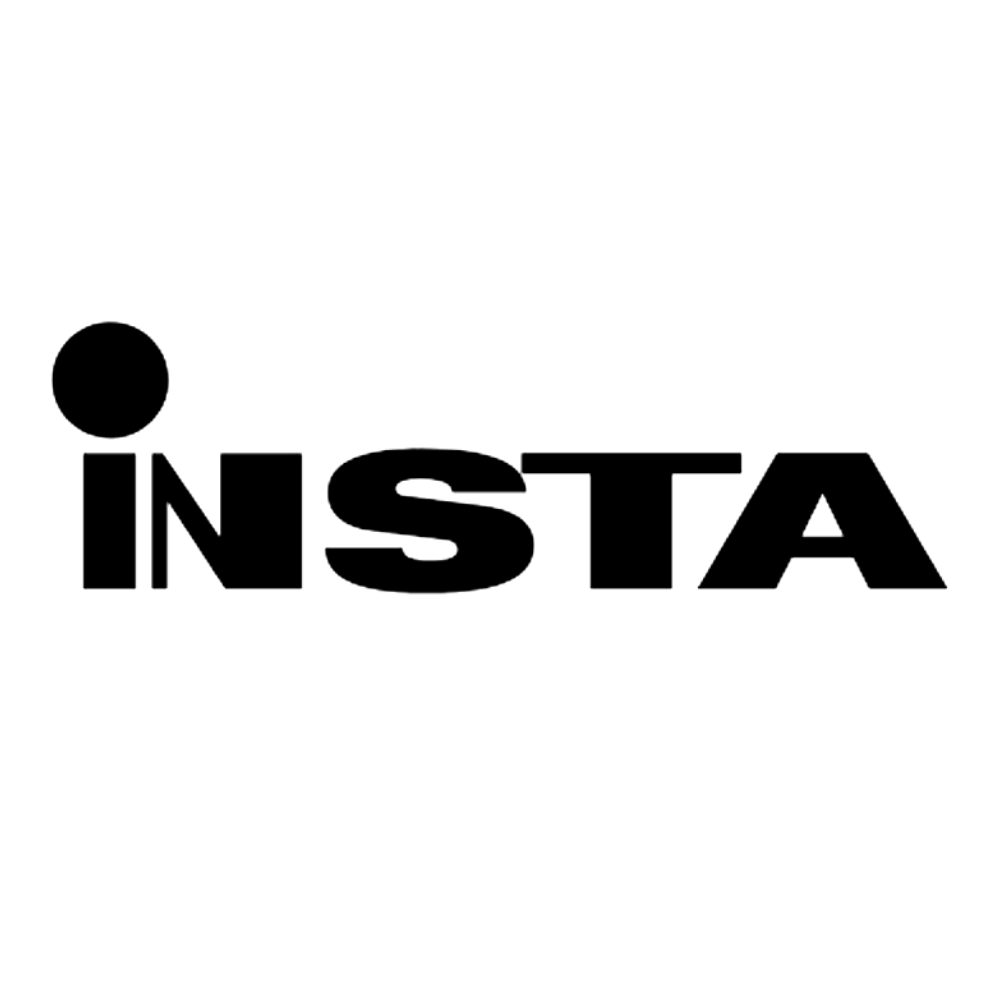 Insta logo black and white transparent png