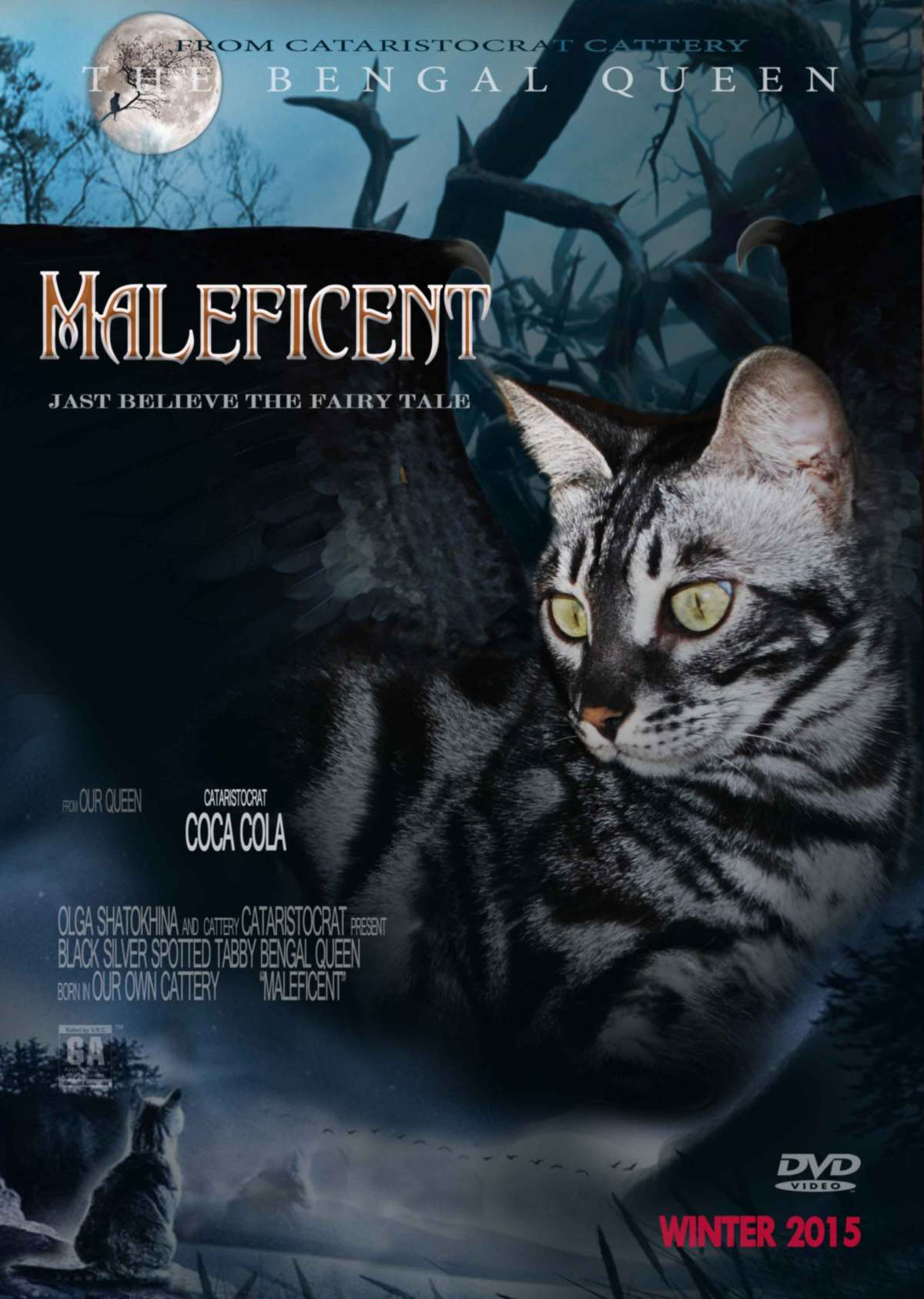Bengal cat MALEFICENT movie Poster CATARISTOCRAT