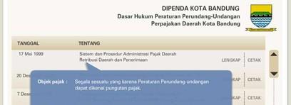 Peraturan Perpajakan Pemda Kota Bandung