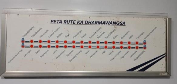Rute kereta api dharmawangsa