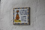 Beware of Cat! Perfect for our clowder.