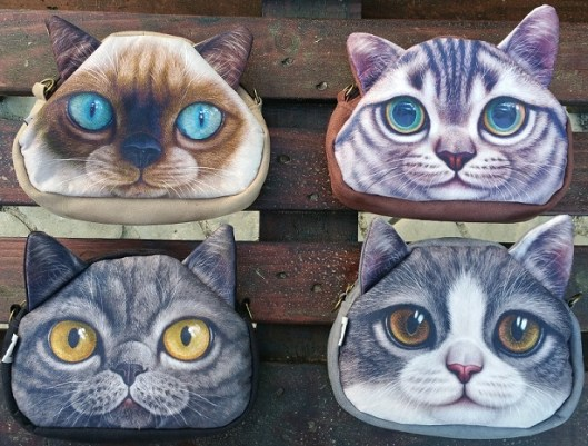 CatBagz.com Cat Faced Cross Body Bags