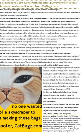Inner Page of Internet - The Magazine with just the text.