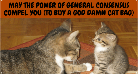 May The Power of General Consensus Compel You (to Buy a God Damn Cat Bag)