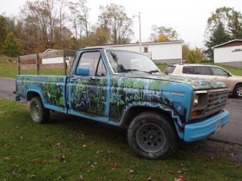 a produce farmer's truck