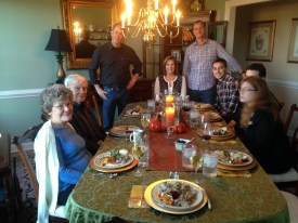 the clan at Thanksgiving
