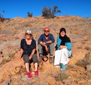 Me, Mario and Anna on our hike from Hail al Yemen