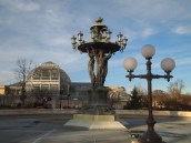the Bartholdi fountain and the Conservatory
