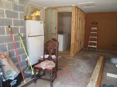 Garage & laundry room - BEFORE