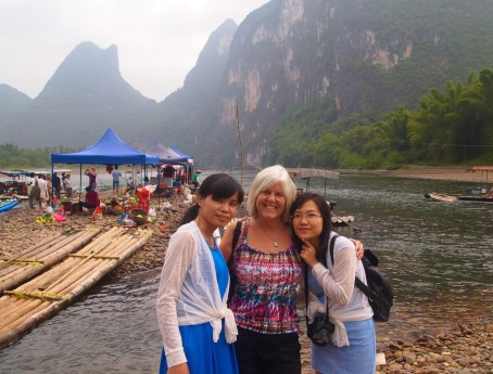 my two Chinese girl boat mates for our Li River cruise