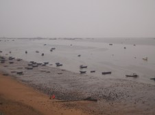 Low tide and fog at Beibu Gulf