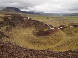 inside Grábrók Crater
