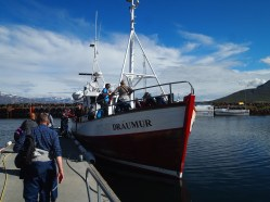 our seafaring boat, the Draumur