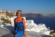 me in Oia for its famous sunset