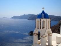 the Mediterranean off of Santorini, Greece