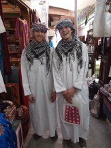 Alex on the left, Adam on the right at Mutrah Souq