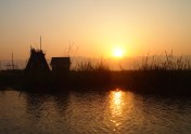 sunrise on Inle Lake