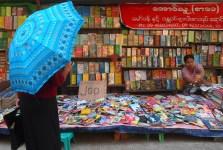 umbrellas and books