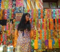 cloth vendor at Scott Market
