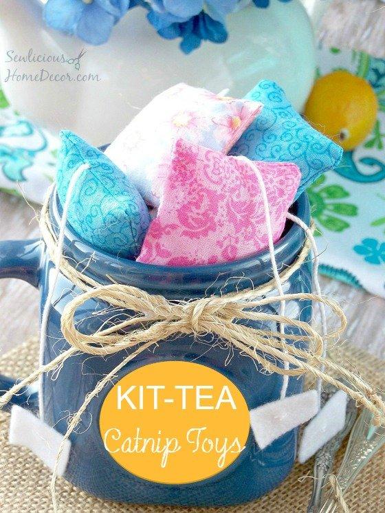 Kit-tea catnip toys homemade cat toys