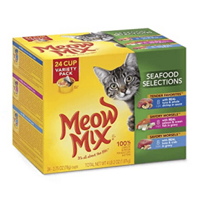 Meow mix seafood selections wet cat food