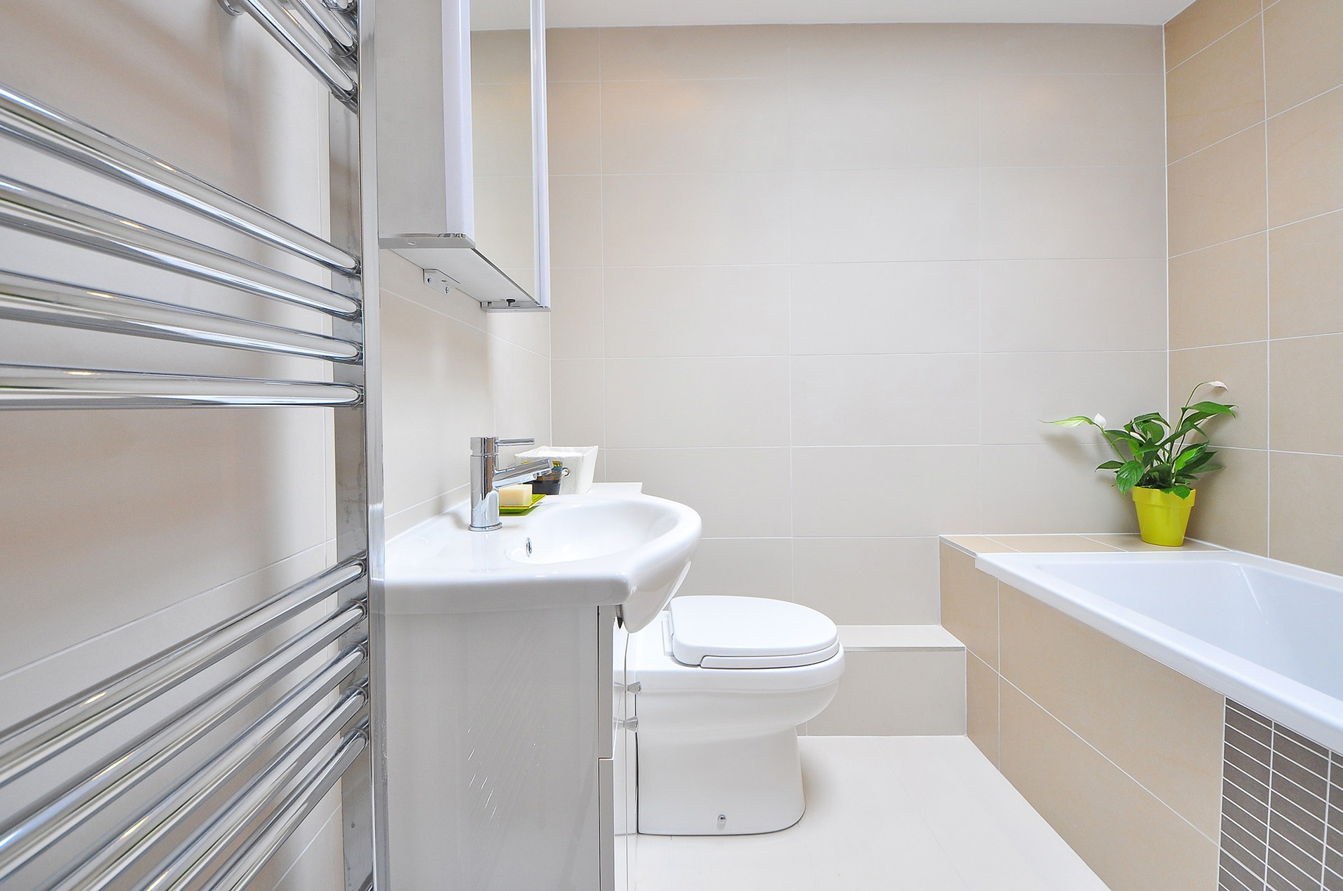 easy to clean bathroom