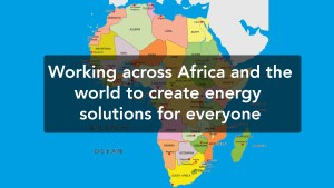 Map of energy solutions in Africa