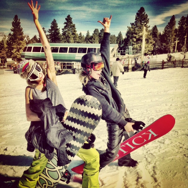 Go snowboarding! Check