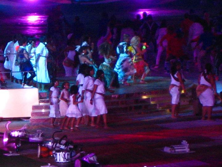 Shakira performing at the final.