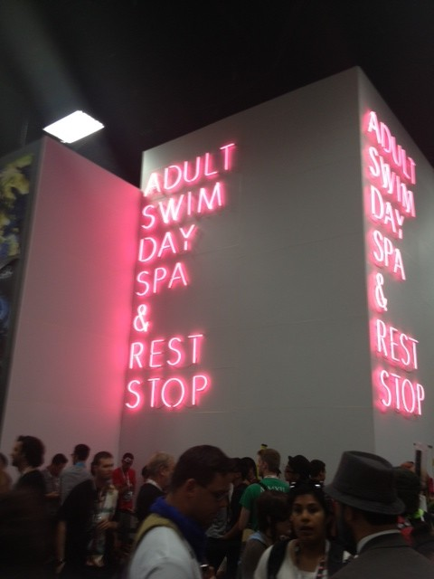 adult happy swim