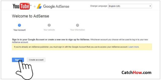 now connecti with google adsense