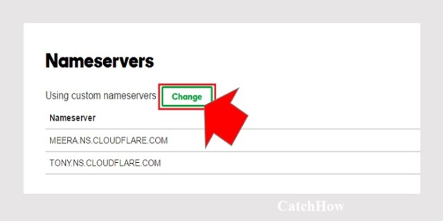 change domain name server